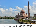 putra mosque beside the river... | Shutterstock . vector #439018738