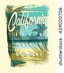 tropical beach summer print... | Shutterstock .eps vector #439020706