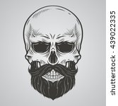 bearded skull illustration | Shutterstock .eps vector #439022335