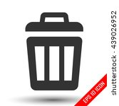 trash icon. trash basket sign....