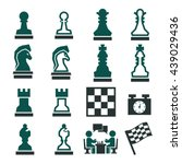 chess icon set | Shutterstock .eps vector #439029436