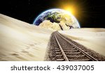 way to earth   elements of this ... | Shutterstock . vector #439037005