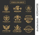 fitness and gym logo set | Shutterstock .eps vector #439044958