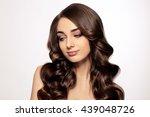 beauty woman portrait. healthy... | Shutterstock . vector #439048726
