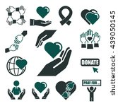 donate  charity icon set | Shutterstock .eps vector #439050145
