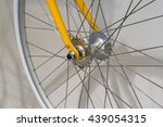 Closed Up Of Front Bicycle Wheel