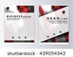 layout design template  annual... | Shutterstock .eps vector #439054342