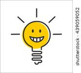 ideas  emotions. light bulb... | Shutterstock .eps vector #439059052