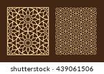 diy laser cutting set. woodcut... | Shutterstock .eps vector #439061506