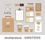 cafe stationery  coffee shop... | Shutterstock .eps vector #439075555