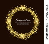 golden circle background vector ... | Shutterstock .eps vector #439077016