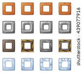 set of square blocks for... | Shutterstock .eps vector #439077916