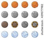 set of round blocks for physics ... | Shutterstock .eps vector #439077982