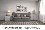 interior with sofa. 3d... | Shutterstock . vector #439079422