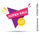 vector illustration of a super... | Shutterstock .eps vector #439087006