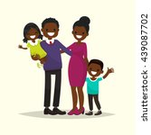 african american family. father ... | Shutterstock .eps vector #439087702