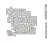 vector maze with answer  | Shutterstock .eps vector #439087708