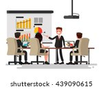 business meeting. presentation... | Shutterstock .eps vector #439090615