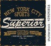 new york  sport wear typography ... | Shutterstock .eps vector #439090816