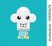 kids menu design  | Shutterstock .eps vector #439093678