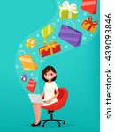 concept of online shopping.... | Shutterstock .eps vector #439093846