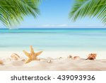 summer sandy beach with blur... | Shutterstock . vector #439093936