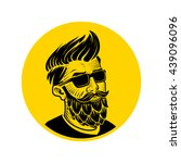 man with beard in the form of... | Shutterstock .eps vector #439096096