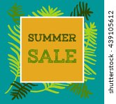 banner with sign summer sale... | Shutterstock .eps vector #439105612