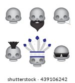 set of skull emoticon vector... | Shutterstock .eps vector #439106242