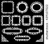 set of decorative vintage...   Shutterstock .eps vector #439107022