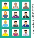 avatars of men of different... | Shutterstock .eps vector #439107592