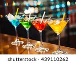 multicolored cocktails at the... | Shutterstock . vector #439110262