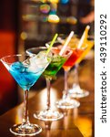 multicolored cocktails at the... | Shutterstock . vector #439110292