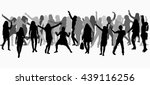 dancing people silhouettes.... | Shutterstock .eps vector #439116256
