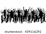 dancing people silhouettes.... | Shutterstock .eps vector #439116292