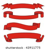 red ribbon | Shutterstock .eps vector #43911775