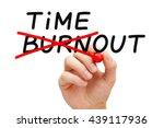 Hand Writing Burnout Timeout...