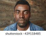 close up portrait of dark... | Shutterstock . vector #439118485