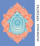 greeting beautiful card with... | Shutterstock .eps vector #439126762