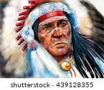 native american   | Shutterstock . vector #439128355