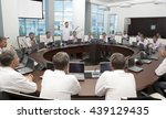 meeting and discussion briefing.... | Shutterstock . vector #439129435