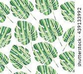 palm leaves seamless pattern.... | Shutterstock .eps vector #439133992
