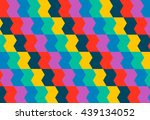 bright geometrical ornament in... | Shutterstock .eps vector #439134052