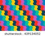 bright geometrical ornament in... | Shutterstock .eps vector #439134052