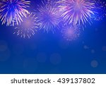 brightly colorful fireworks on... | Shutterstock .eps vector #439137802