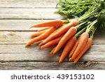 fresh and sweet carrot on a...