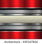 elegant metal background with... | Shutterstock .eps vector #439167826