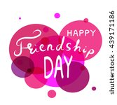 happy friendship day hand draw... | Shutterstock .eps vector #439171186