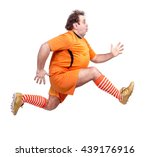 recreational footballer running ... | Shutterstock . vector #439176916