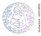 mother breastfeeding.nursing... | Shutterstock .eps vector #439178902